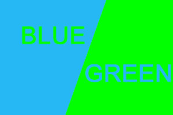 Ý nghĩa màu xanh dương và xanh lá cây