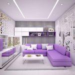 Sử dụng màu tím trong thiết kế nội thất