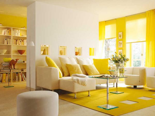 Tâm lý màu vàng trong thiết kế nội thất