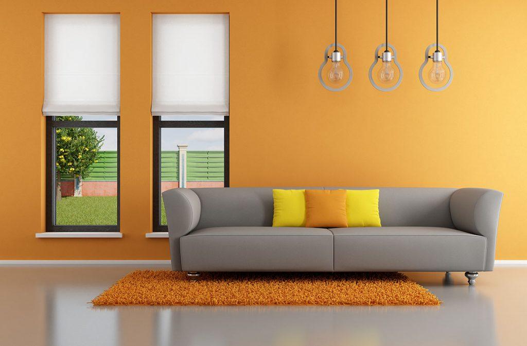 Ý nghĩa màu cam trong thiết kế nội thất